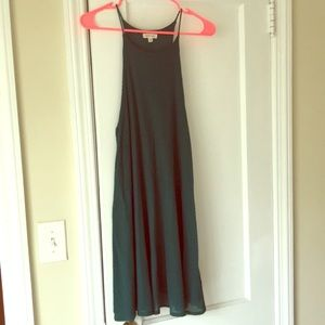 Hunter Green High Neck Dress